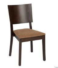Ashley Wooden and Upholstered Stacking Chair in Wenge